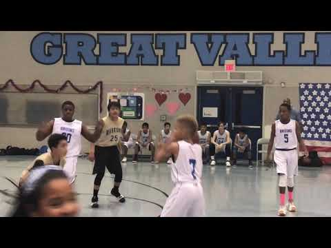 Stockton CA Elijah Rivers BasketBall Player Great Valley Middle School