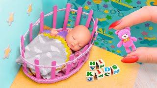 12 Diy Baby Puppe Hacks And Basteleien  / Miniatur Baby Bettchen, Rassel Und Mehr!