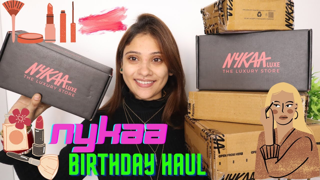 My nykaa Birthday haul || new and high end  makeup || shystyles