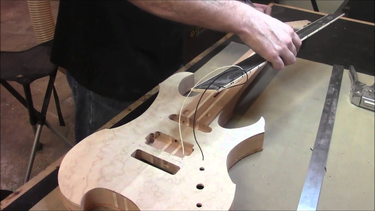 How To Build An Electric Guitar Video 16 Attaching The