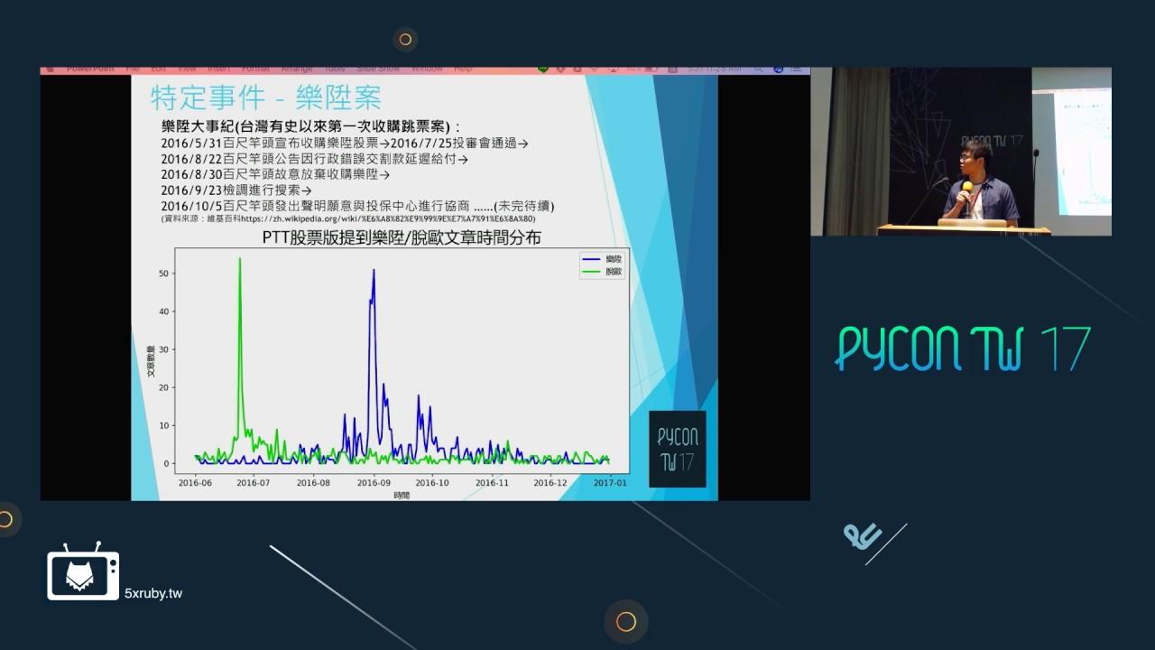 Image from 潘穎達(Panda), 陳柏瑋 - 用Python成為網路投資王 - PyConTW2017