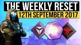 Destiny 2 | WEEKLY RESET! - New Luminous Engram Rewards, New Shaders, Raid & More (12th September)