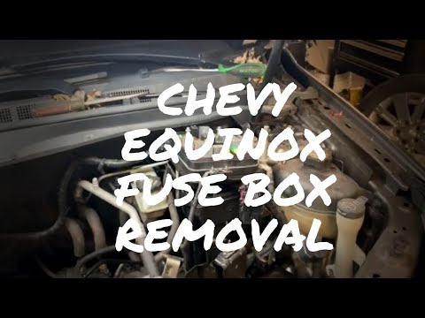 Chevy Equinox fuse box removal - YouTube
