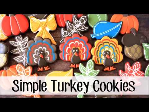 How To Make A Decorated Turkey Sugar Cookies Youtube