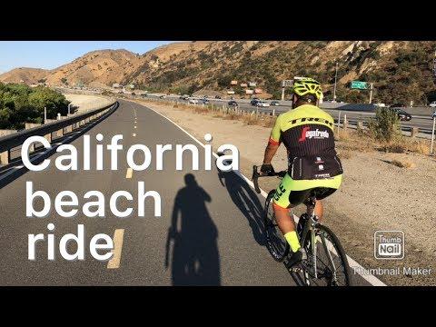 Biking To The Beach On The Santa Ana River Trail.