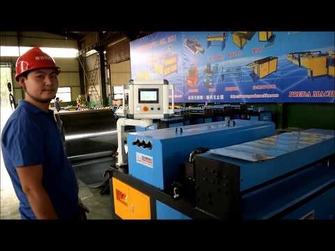 Auto Duct Line 2 Running Test On Sheet Metal Coil Duct Production For Air Duct.