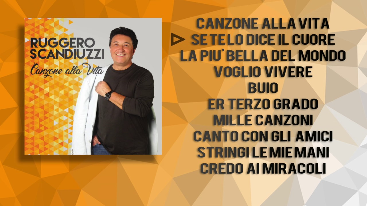 Calendario Titti Bianchi.Ruggero Scandiuzzi Canzone Alla Vita Disco Completo