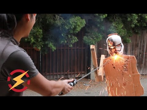 Thermic Lance Lightsaber Cuts Through Steel!