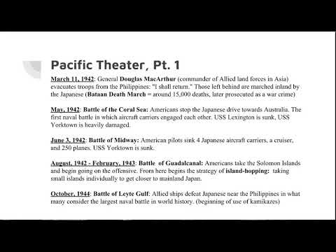 American in WWII A Military Timeline