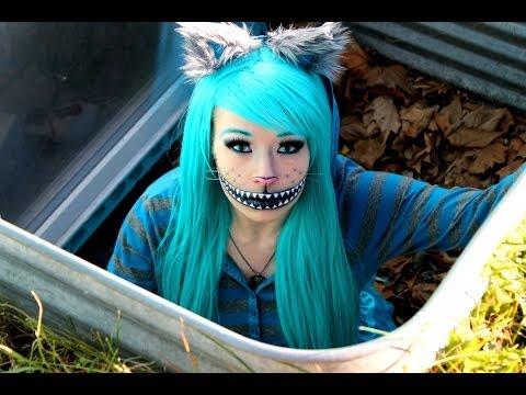 CHESHIRE CAT! (Makeup Tutorial & Costume)