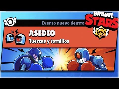 JUGANDO EL NUEVO MODO DE JUEGO *ASEDIO* DE BRAWL STARS EN DIRECTO - WithZack