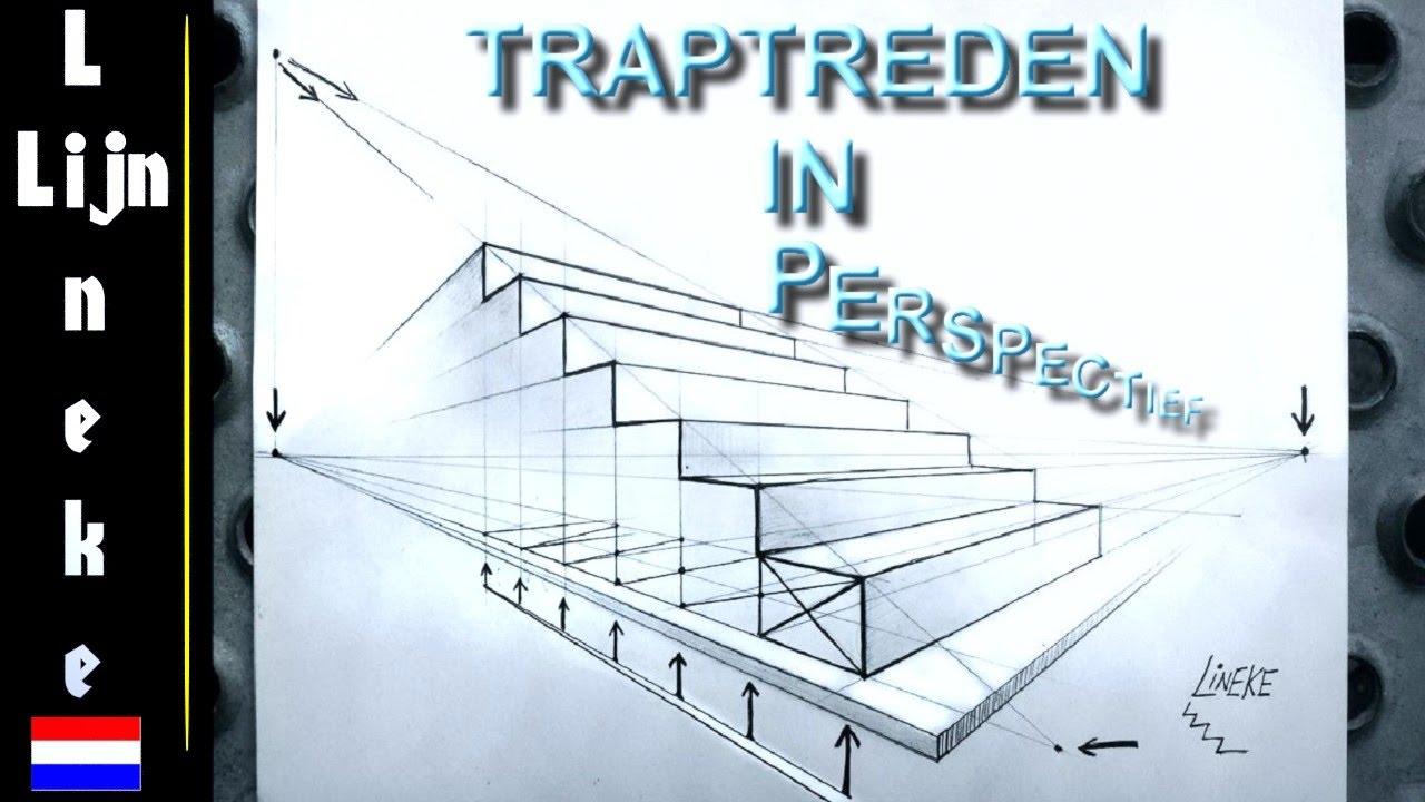 Hoe teken je een trap in 3 punt perspectief voor beginners youtube - Hoe een trap te kleden ...