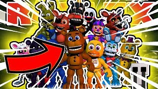 Unlocking ALL The FNAF 1 Animatronics in Roblox Animatronics Universe Tycoon
