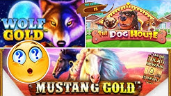 Online Casino Deutsch Slots - Mustang Gold, The Dog House, Wolf Gold und paar NEUE Slots