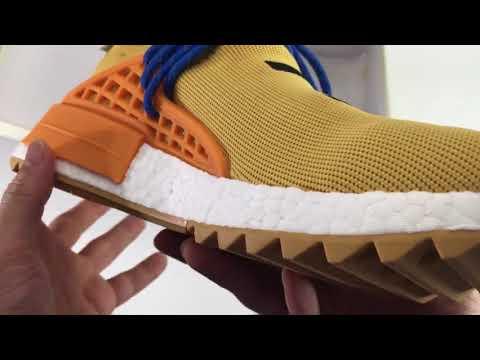 "5e2bfe7e813d7 NEW 2017 UA Adidas NMD Human Race Pharrell Williams ""Pale Nude"" AC7361"