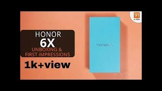 | UNBOXING | Honor 6X, 64GB, 4GB RAM, GREY | FIRST LOOK | And | REVIEW |