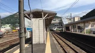 今庄駅を通過する特急しらさぎ