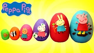 Smallest to Biggest PEPPA PIG and Friends Play Doh Surprise Eggs