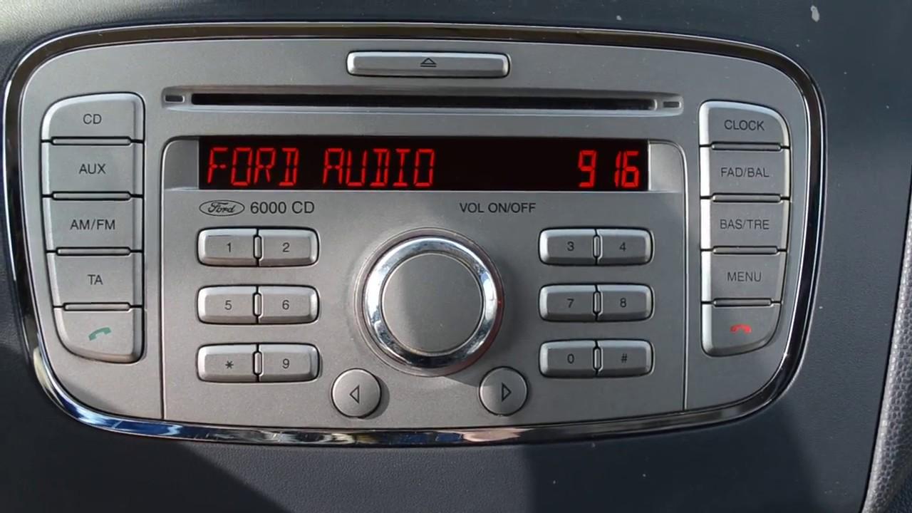 Ford Radio Unlock Code V Series Fordcode Co Uk Youtube