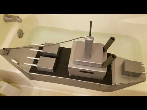 Cardboard Ship Float test
