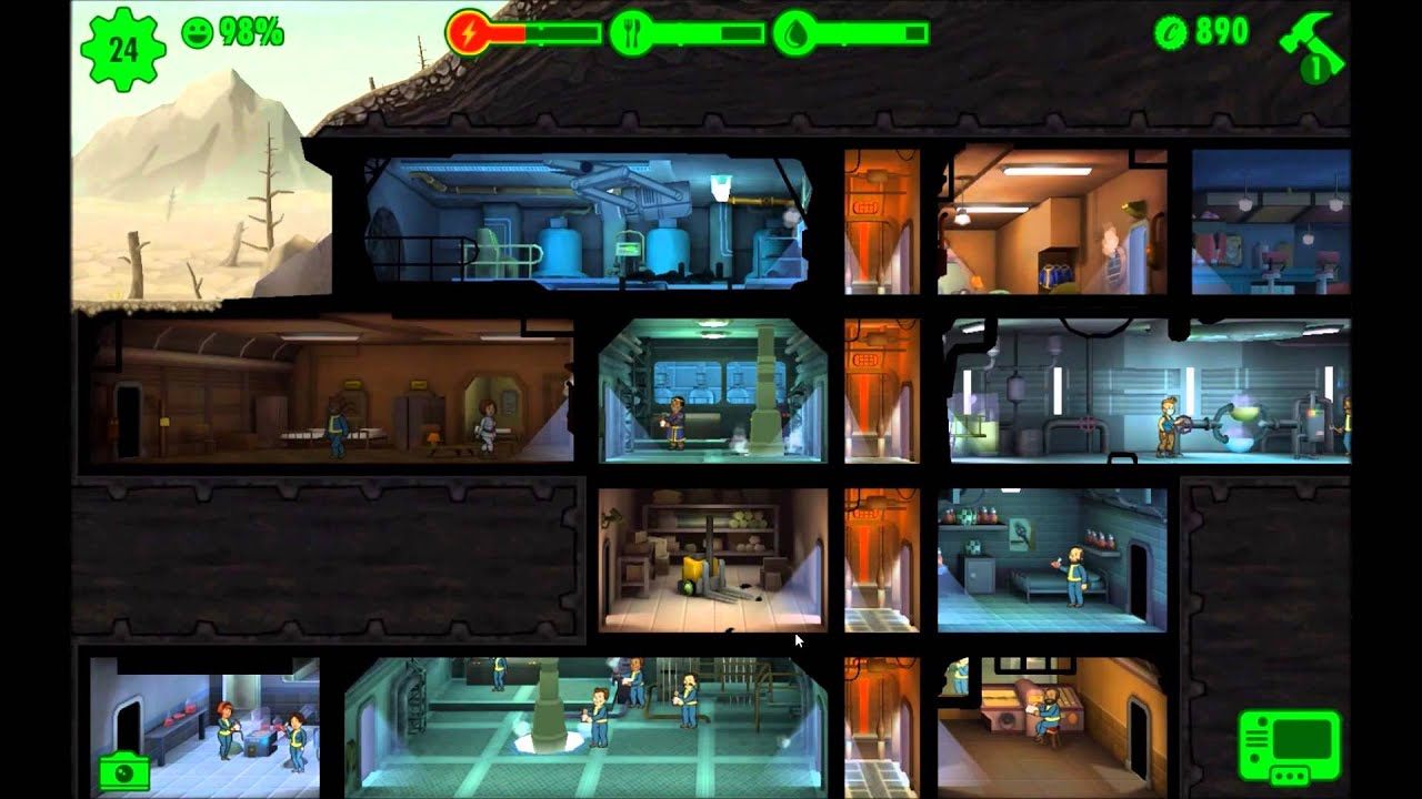 Fallout Shelter Trainingsraum