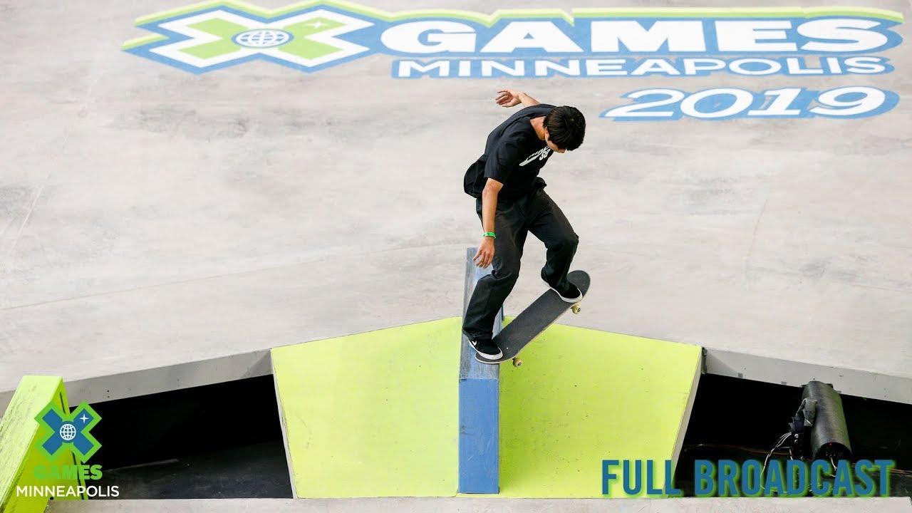 Men's Skateboard Street: FULL BROADCAST | X Games Minneapolis 2019