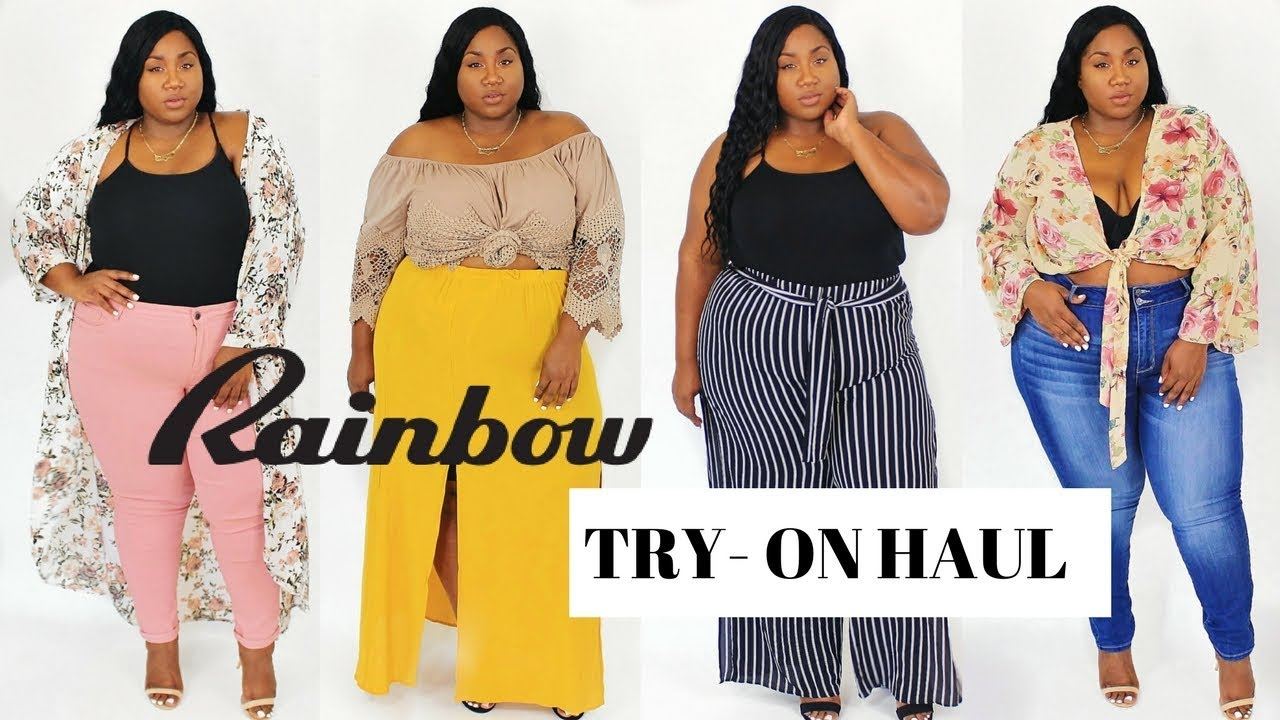 16f400a76c8 PLUS SIZE RAINBOW SHOPS TRY ON HAUL 2017 - YouTube