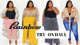PLUS SIZE RAINBOW SHOPS TRY ON HAUL 2017
