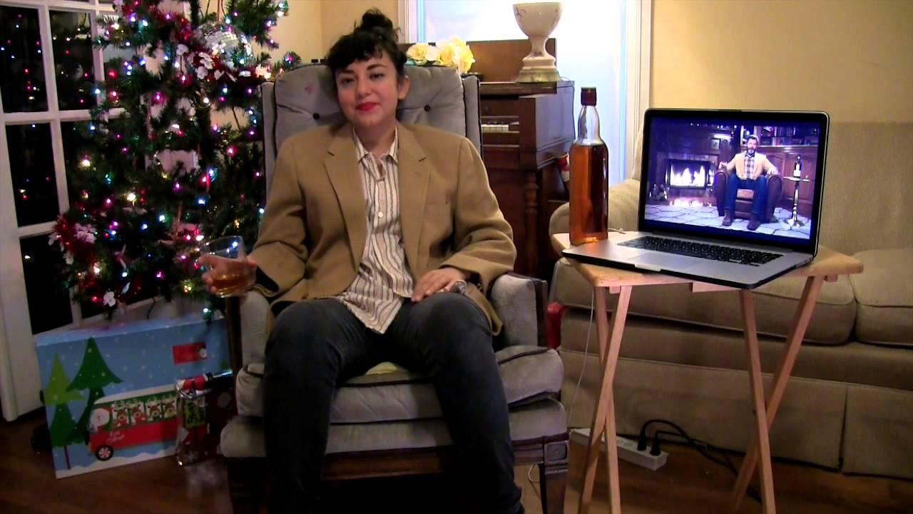 Watching Nick Offerman's 'Yule Log' (a Scotch Meditation) - YouTube