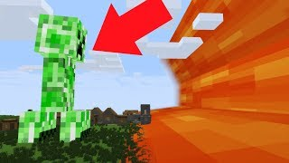 GIANT CREEPER VS LAVA TSUNAMI! - Minecraft Animation