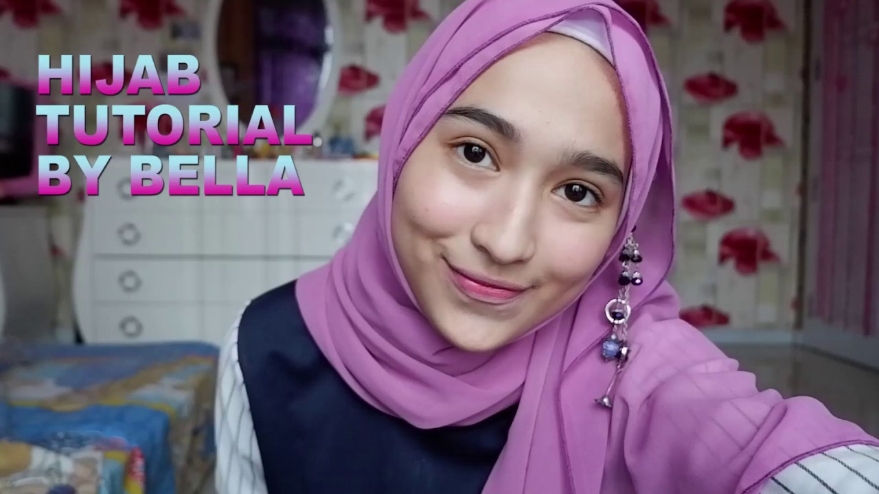 tutorial hijab pashmina 2018 - youtube