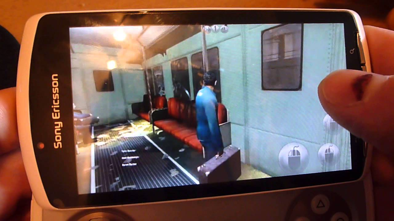 Half Life 2 on Xperia play via Kainy