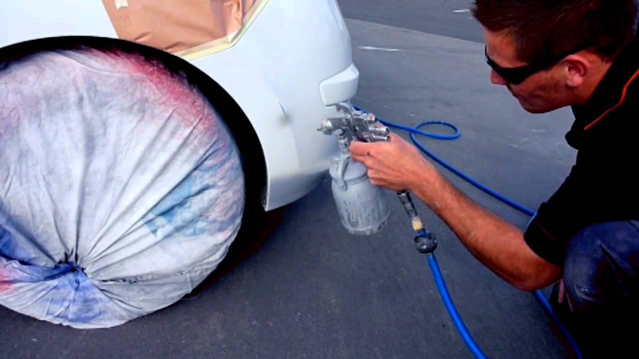 Scratch Repair on Bumper of White Hyundai by Smart PaintWorx