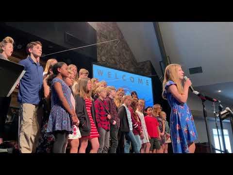 "XuXu accompanies the Ventura Missionary School Got Faith Choir singing ""You Say"""