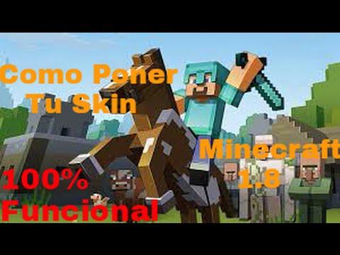 Como Poner Mi Skin En Minecraft No Premium Funcional YouTube - Nombres de skins para minecraft 1 8 premium