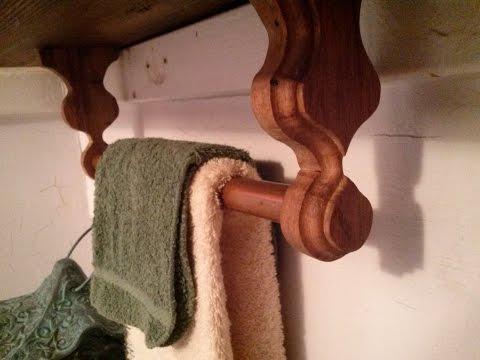 DIY Towel Rod from pallet wood.
