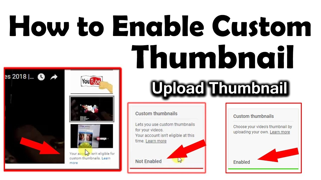 How To Enable and Upload Custom Thumbnails on YouTube || In Telugu
