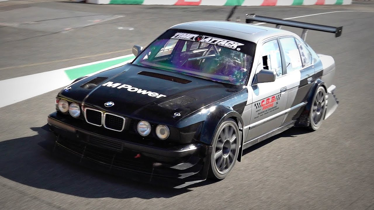 Home Built Track Only Bmw M5 E34 With Turbo Testing For The 1st Time Lovely Turbo Sounds Youtube