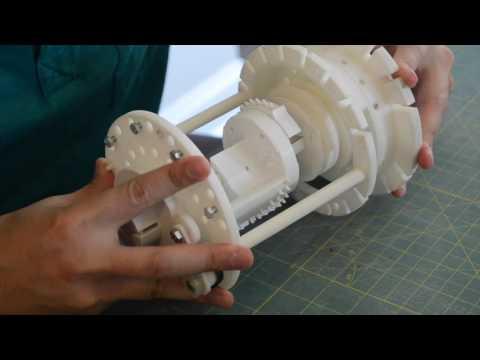 3D Printed Curta Calculator Assembly