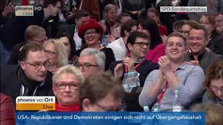 SPD-Sonderparteitag: Aussprache über die Aufnahme von Koalitionsverhandlungen 1. Teil am 21.01.2018