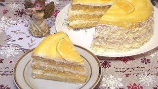 Мягкий нежный сочный Лимонный торт