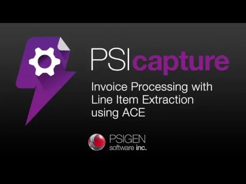 Invoice Processing With Line Item Extraction Using ACE In PSIcapture 6