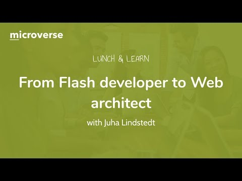 """""""From Flash developer to Web architect"""" with Juha Lindstedt"""