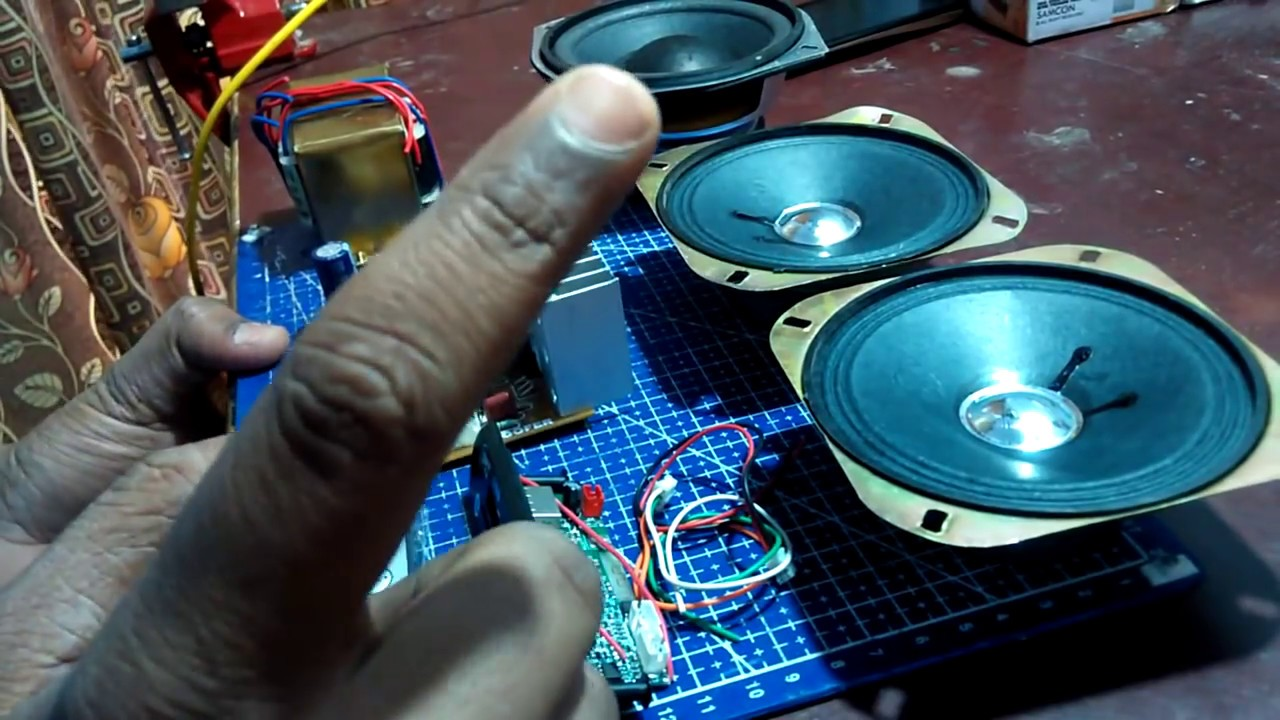 2.1 home theater amplifier board assembling video - YouTube
