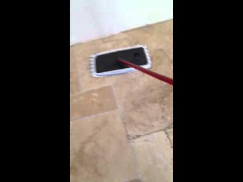 sealing travertine floor tile