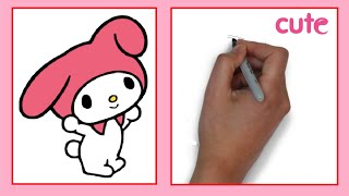 How to Draw a My Melody / Как нарисовать кролика My Melody