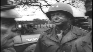 Allied officials receive surrender from German officials in Germany at the end of...HD Stock Footage