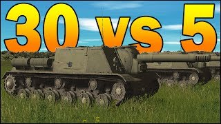 30 ISU-152 vs 5 KING TIGERS - SIMULATION - Combat Mission Red Thunder Gameplay