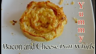 Wednesday's Cooking Madness: Bacon And Cheese Puff Whirls