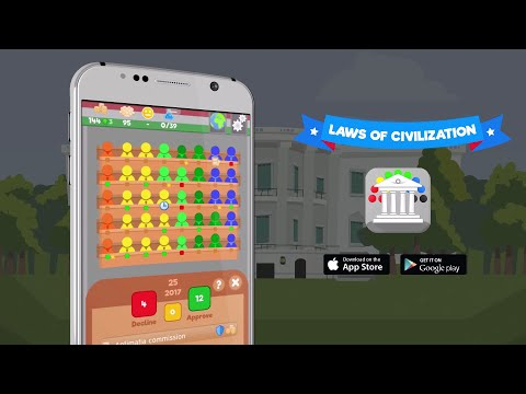 Laws Of Civilization TRAILER | Political Simulation Game Android, IOS & PC